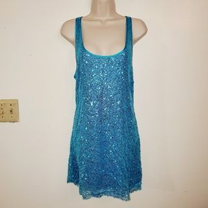 Victoria's Secret sequin tback sheer night dress